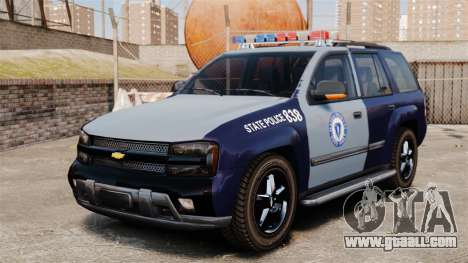 Chevrolet Trailblazer 2002 Massachusetts Police for GTA 4