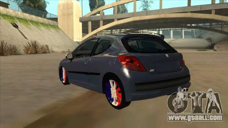 Peugeot 207 RC for GTA San Andreas back view
