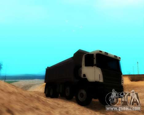 Scania P420 8X4 Dump Truck for GTA San Andreas back left view