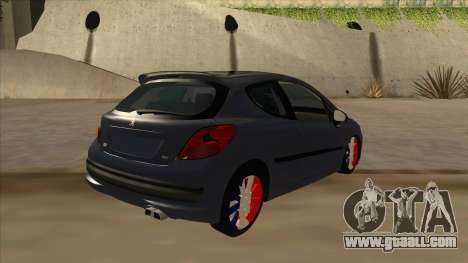 Peugeot 207 RC for GTA San Andreas right view