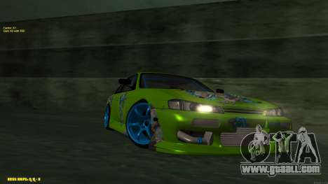 Nissan Silvia S14 CIAY for GTA San Andreas left view