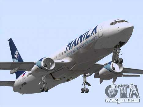 Boeing 737-800 Spirit of Manila Airlines for GTA San Andreas left view