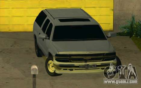 Chevrolet Suburban for GTA San Andreas back view
