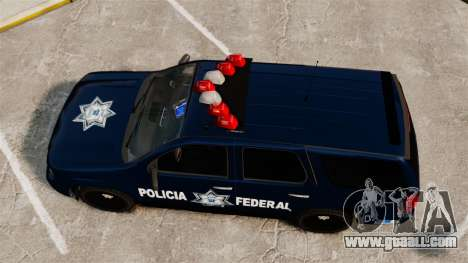 Chevrolet Tahoe 2007 De La Policia Federal [ELS] for GTA 4 right view