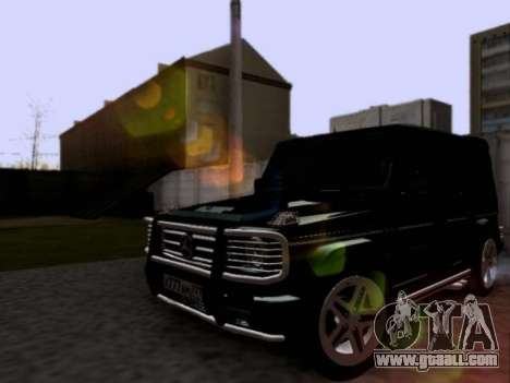 Mercedes-Benz G55 AMG for GTA San Andreas back left view