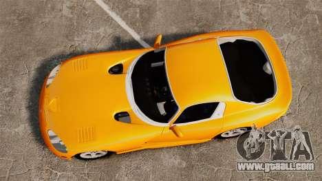 Dodge Viper 1996 for GTA 4 right view