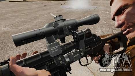 Dragunov sniper rifle v2 for GTA 4 forth screenshot