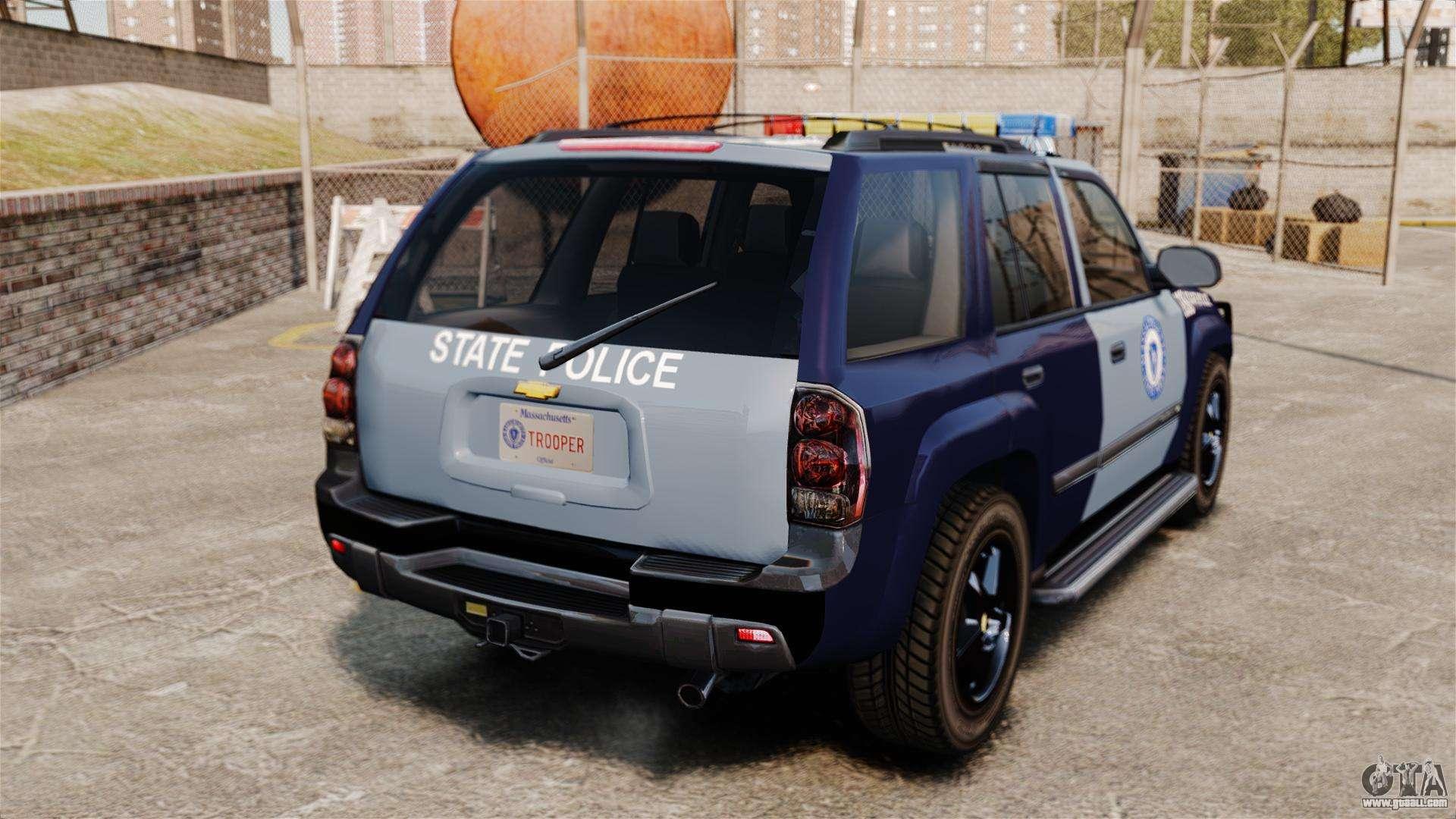 Chevrolet Trailblazer 2002 Massachusetts Police for GTA 4