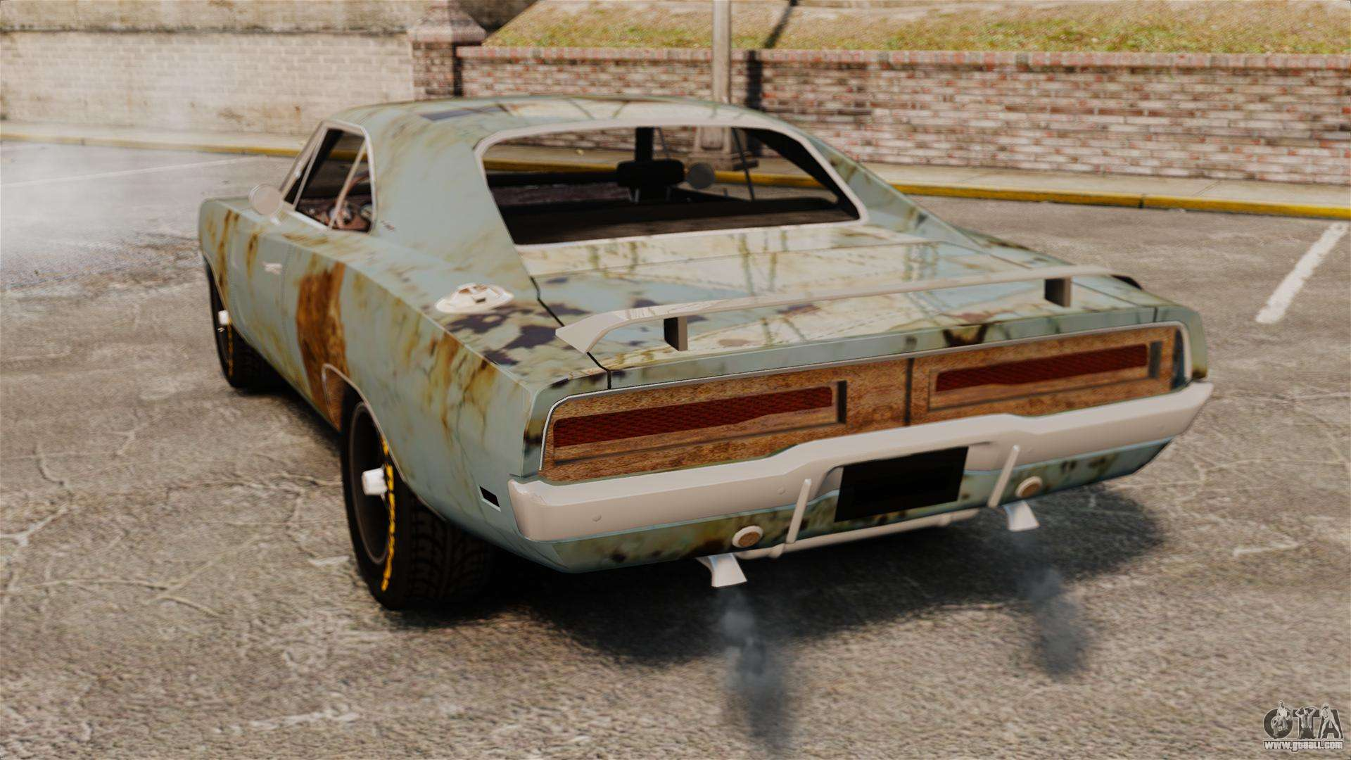 Dodge Charger Rt 1969 Rusty V1 1 For Gta 4
