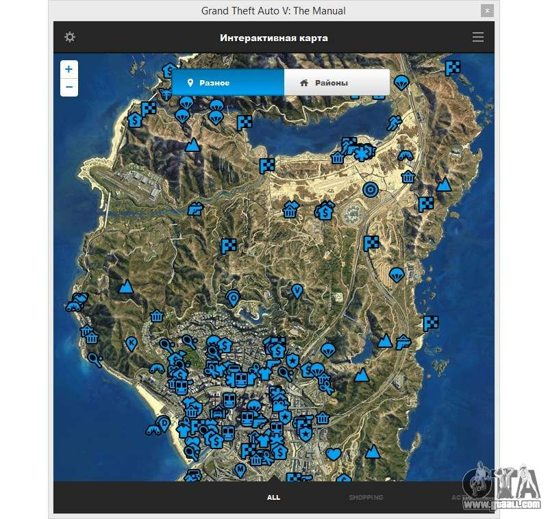 GTA V: The Manual: The Interactive Area Map For GTA 5