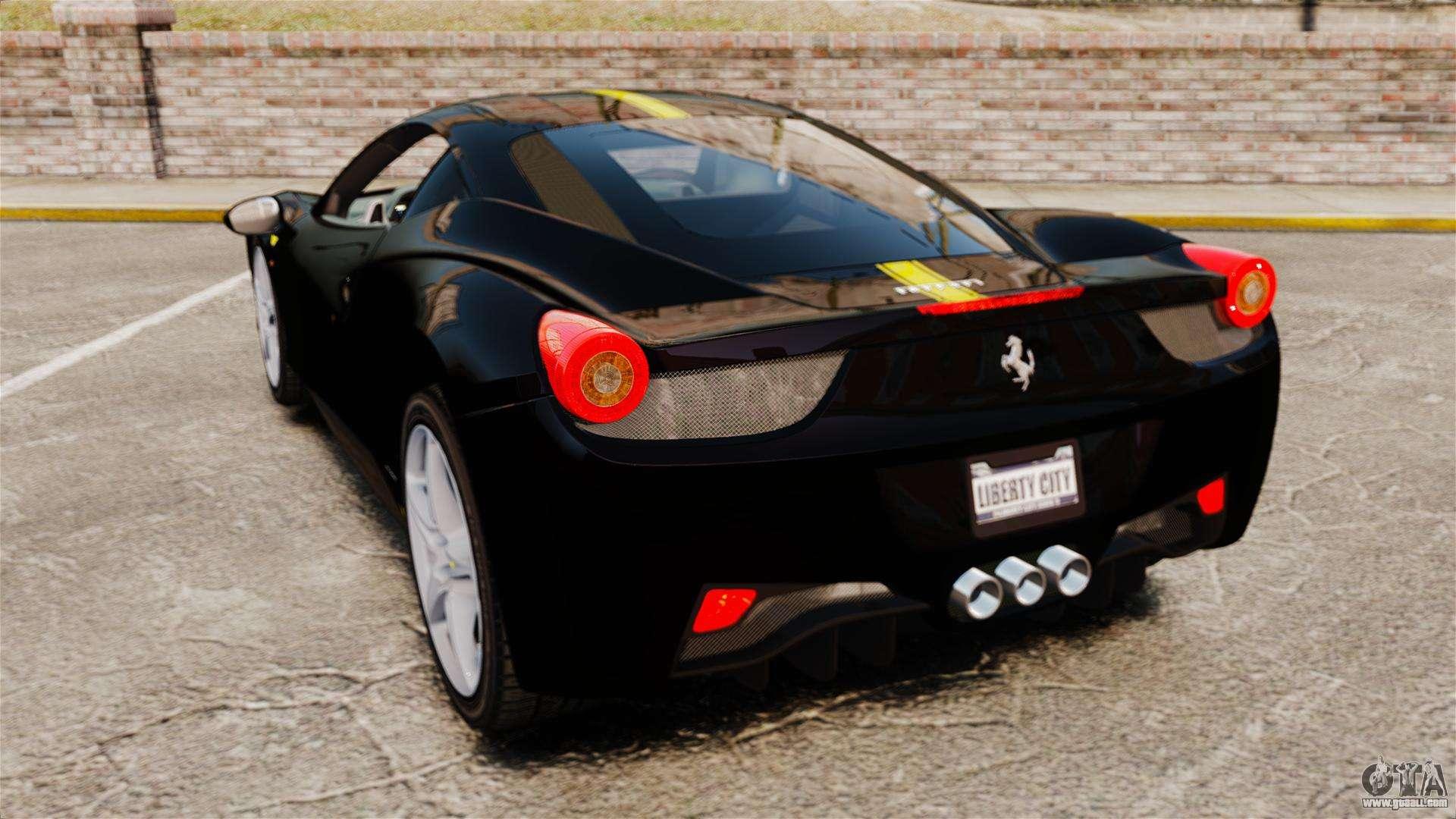 ferrari 458 italia 2010 wheelsandmore 2013 for gta 4 back view - Wheelsandmore Ferrari 458 Italia