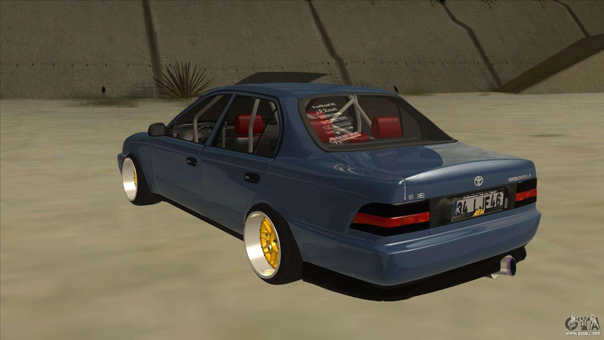 Toyota Corolla 1 6 1997 Hellaflush For Gta San Andreas