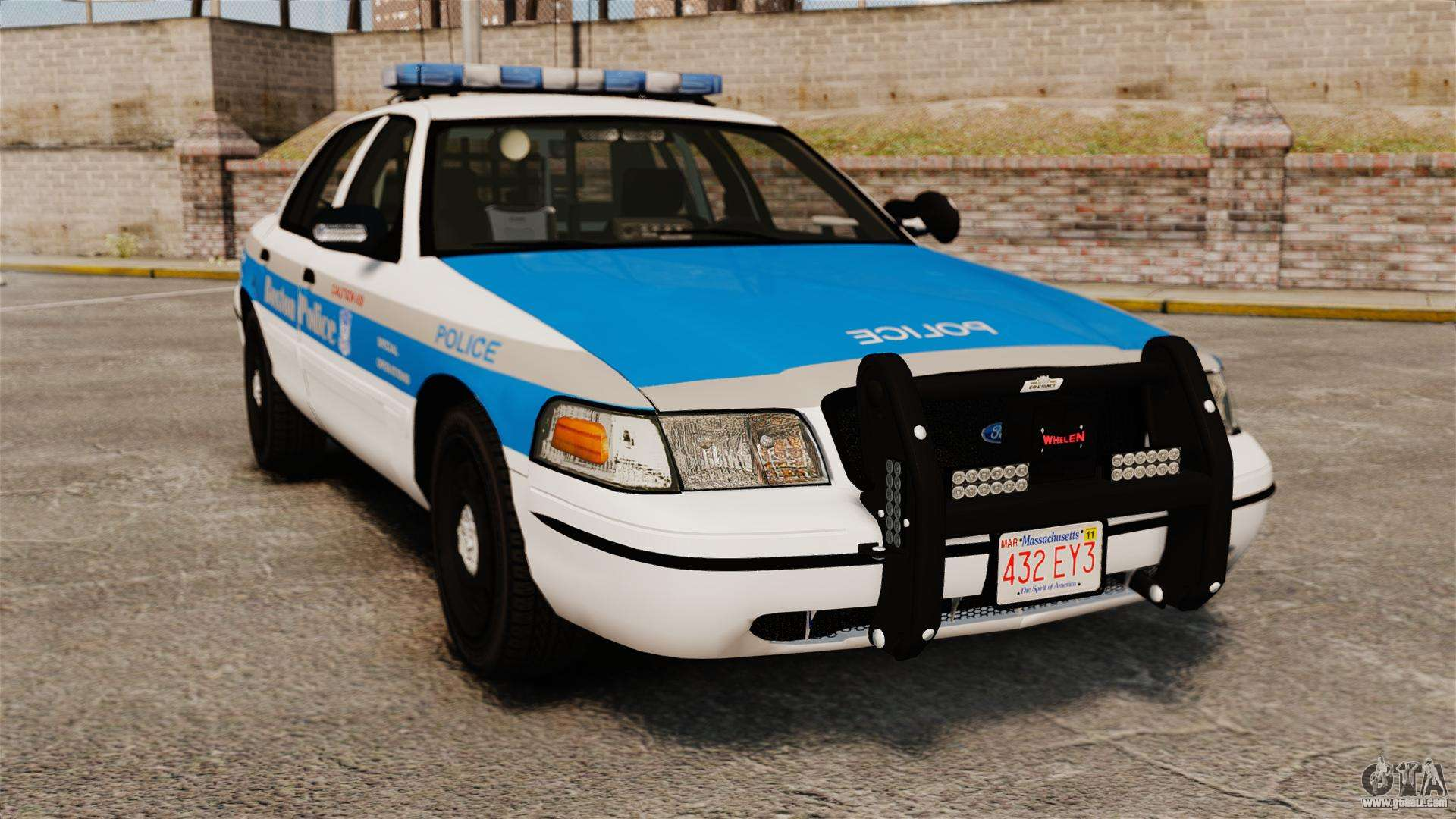 ford crown victoria police massachusetts els for gta 4. Black Bedroom Furniture Sets. Home Design Ideas