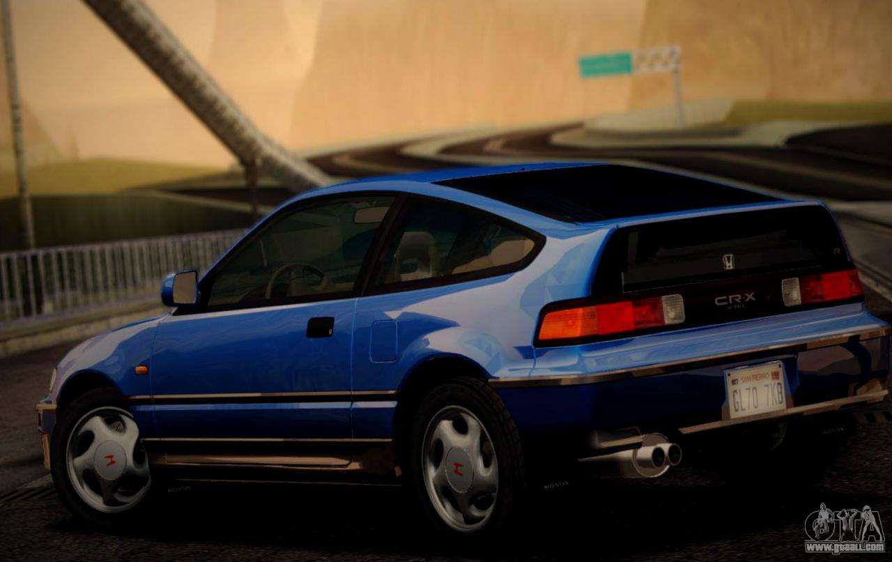 Vehicle Registration Ca >> Honda CR-X 1991 for GTA San Andreas