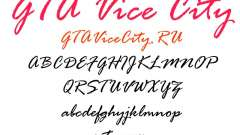 The official font for GTA Vice City
