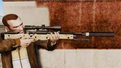 AW L115A1 sniper rifle with a silencer v9