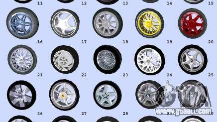Super Wheel Mods v2 for GTA Vice City