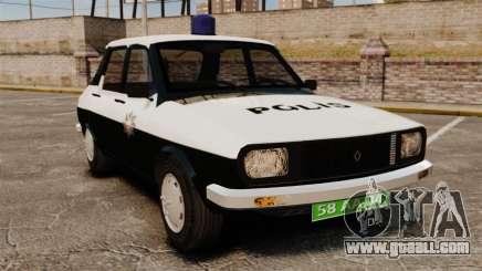 Renault 12 Classic 1980 Turkish Police for GTA 4