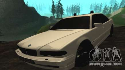 BMW 750iL E38 with flashing lights for GTA San Andreas