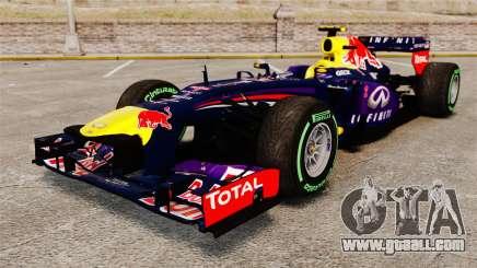 Car, Red Bull RB9 v3 for GTA 4