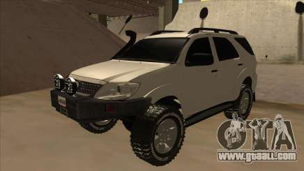 Toyota Fortunner 2012 Semi Off Road for GTA San Andreas