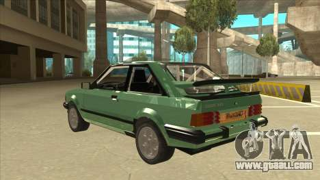 Ford Escort XR3 With Cosworth Spoiler for GTA San Andreas back view