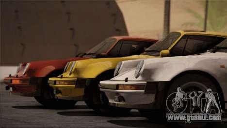 Porsche 911 Turbo 3.3 Coupe 1982 for GTA San Andreas engine