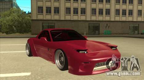 Mazda RX7 FD3S Rocket Bunny for GTA San Andreas left view