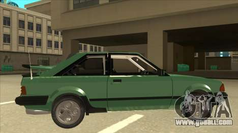 Ford Escort XR3 With Cosworth Spoiler for GTA San Andreas back left view