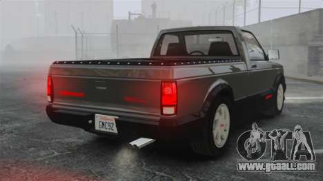 GMC Syclone 1992 for GTA 4 back left view
