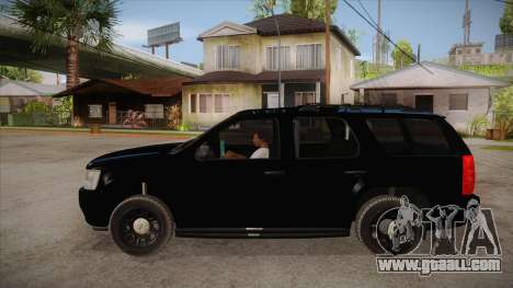 Chevrolet Tahoe LTZ 2013 Unmarked Police for GTA San Andreas left view