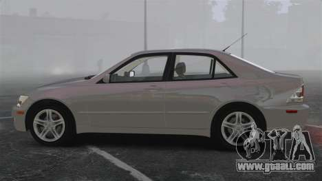 Lexus IS300 for GTA 4 left view