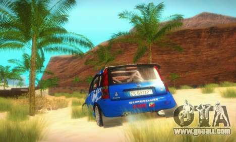 Fiat Panda Rally for GTA San Andreas back view