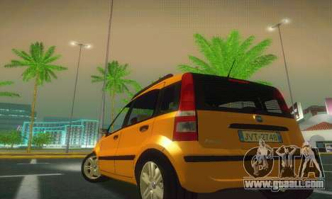 Fiat Panda Taxi for GTA San Andreas back left view