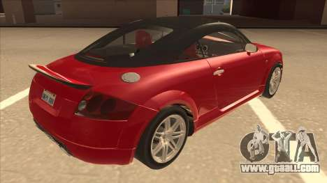 Audi TT Coupe BiMotor Black Revel for GTA San Andreas right view