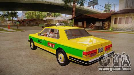 Rolls-Royce Silver Spirit 1990 Taxi for GTA San Andreas back left view