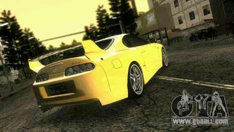 Toyota Supra TRD for GTA Vice City left view