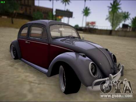 Volkswagen Beetle for GTA San Andreas inner view