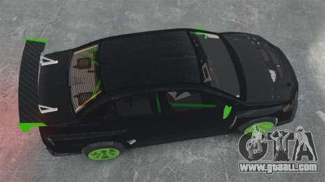 Mitsubishi Lancer Evolution VII Freestyle for GTA 4 right view