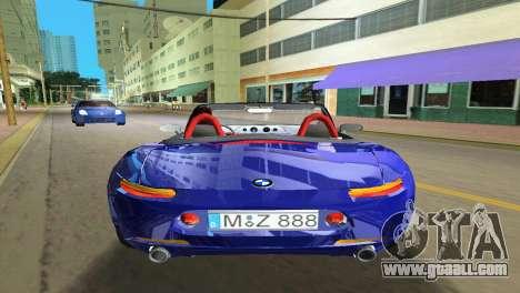BMW Z8 for GTA Vice City interior