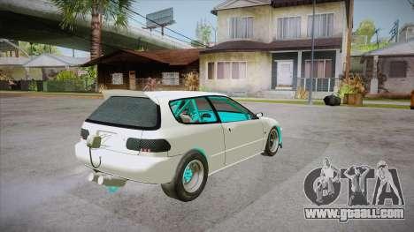 Honda Civic (EG6) Drag Style for GTA San Andreas right view
