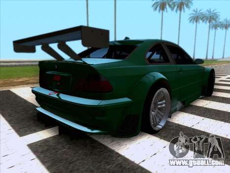 BMW M3 E46 GTR for GTA San Andreas back left view