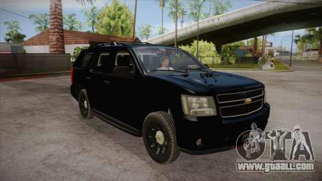 Chevrolet Tahoe LTZ 2013 Unmarked Police for GTA San Andreas back view