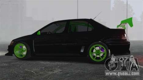 Mitsubishi Lancer Evolution VII Freestyle for GTA 4 left view