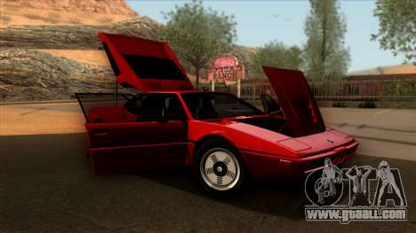 BMW M1 (E26) 1979 for GTA San Andreas back left view