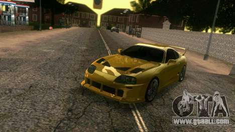 Toyota Supra TRD for GTA Vice City side view
