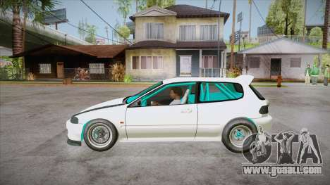Honda Civic (EG6) Drag Style for GTA San Andreas left view