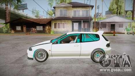 Honda Civic (EG6) Drag Style for GTA San Andreas left view