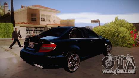 Mercedes-Benz C 63 AMG for GTA San Andreas back view