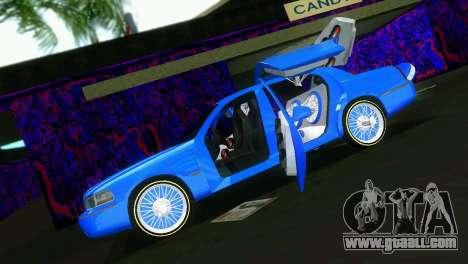 Lincoln Town Car Tuning for GTA Vice City back view